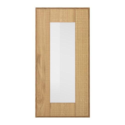 HYTTAN Glass door, oak veneer