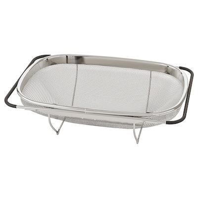 IDEALISK Colander, stainless steel/black, 34x23 cm