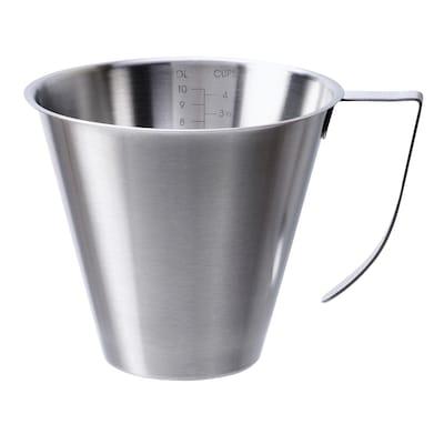 IDEALISK Jug, graduated/stainless steel, 1 l