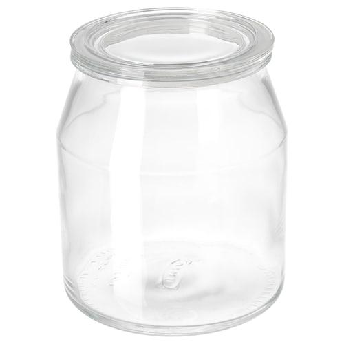 IKEA 365+ jar with lid glass 20 cm 17 cm 3.3 l