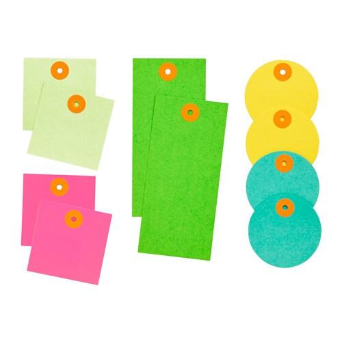 IKEA PS 2017 Gift tags, set of 10, multicolour