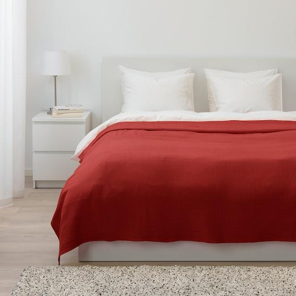 INDIRA غطاء سرير, أحمر-برتقالي, 230x250 سم