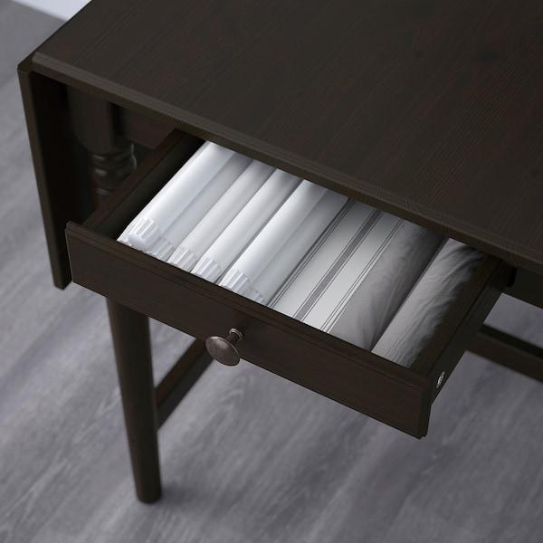 INGATORP Drop-leaf table, black-brown, 65/123x78 cm