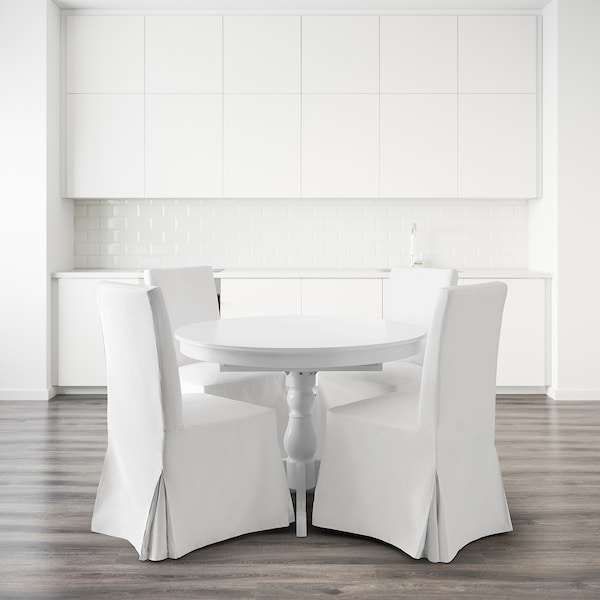 INGATORP / HENRIKSDAL طاولة و4 كراسي, أبيض/Blekinge أبيض, 110 سم