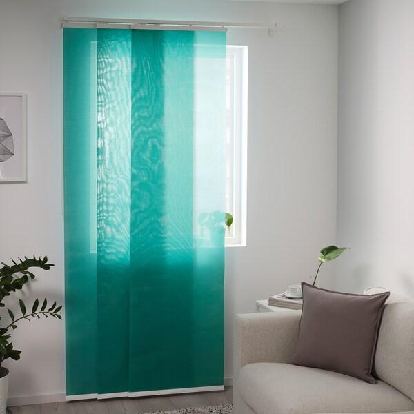 INGJERD Panel curtain, green, 60x300 cm
