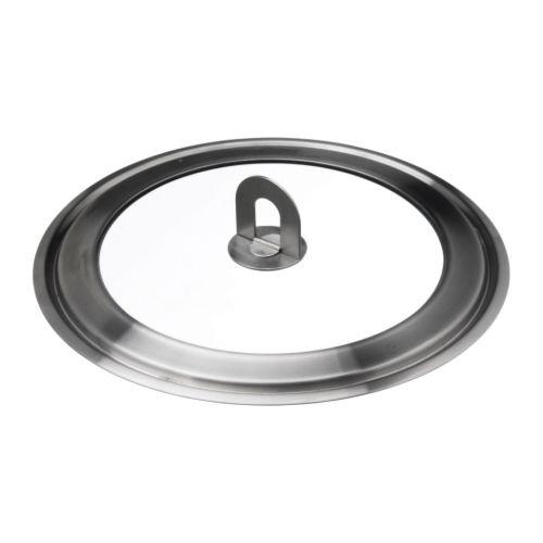 INSPEKTERA Lid, stainless steel, clear glass
