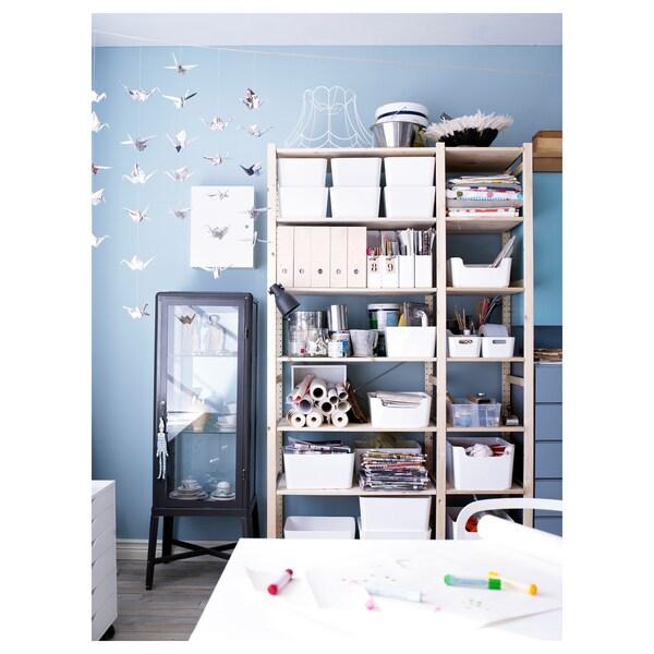 IVAR 2 sections/shelves, pine, 134x50x226 cm