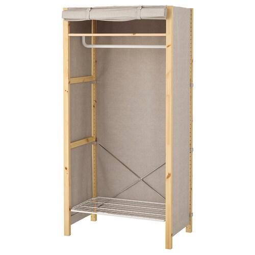 IVAR shelving unit w shelves/rails/cover 89 cm 50 cm 179 cm