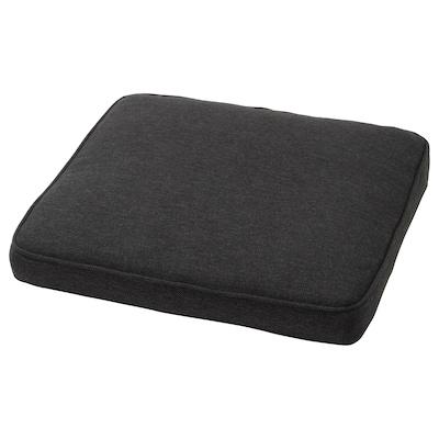 JÄRPÖN Cover for chair cushion, outdoor anthracite, 50x50 cm