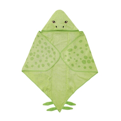 JÄTTELIK فوطة مع غطاء., ديناصور/ستيغوصور/أخضر, 140x97 سم