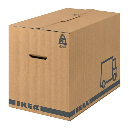 JÄTTENE Packaging box, brown