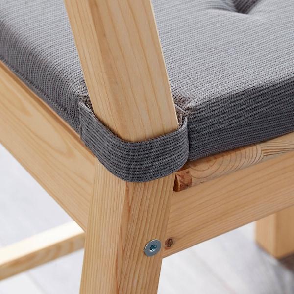 JUSTINA وسادة كرسي, رمادي, 35/42x40x4.0 سم