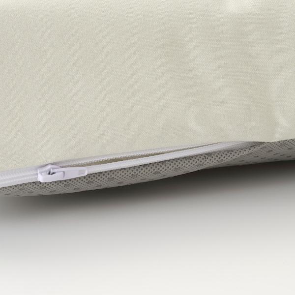 JUTHOLMEN 3-seat modular sofa, outdoor, dark grey/Kuddarna beige