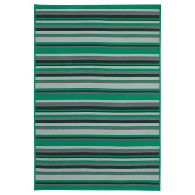 KÄRBÄK Rug flatwoven, in/outdoor, green, 70x100 cm