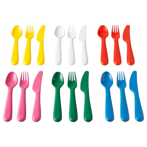 KALAS طقم أدوات تناول الطعام 18 قطعة, عدة ألوان