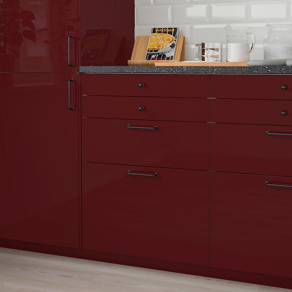 KALLARP واجهة دُرج, لامع أحمر-بني غامق, 60x40 سم