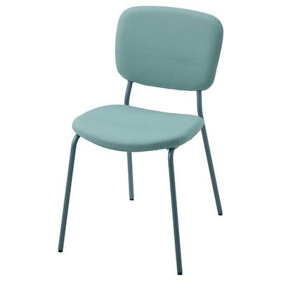 KARLJAN Chair, turquoise/Kabusa turquoise