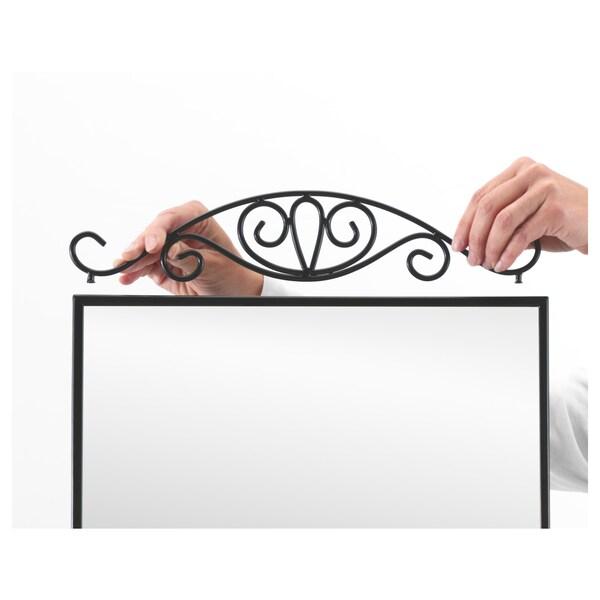 KARMSUND مرآة بحامل, أسود, 40x167 سم