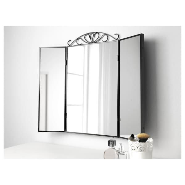 KARMSUND مرآة طاولة, أسود, 80x74 سم
