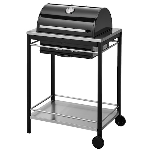 KLASEN charcoal barbecue stainless steel 74 cm 57 cm 109 cm 30 kg