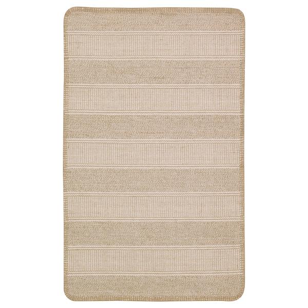 KLEJS سجاد، غزل مسطح, بيج/ابيض, 50x80 سم
