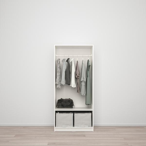 KLEPPSTAD دولاب ملابس ببابين, أبيض, 79x176 سم