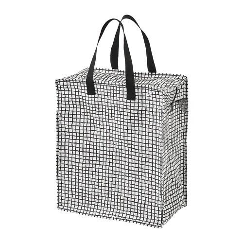 KNALLA Bag, black, white