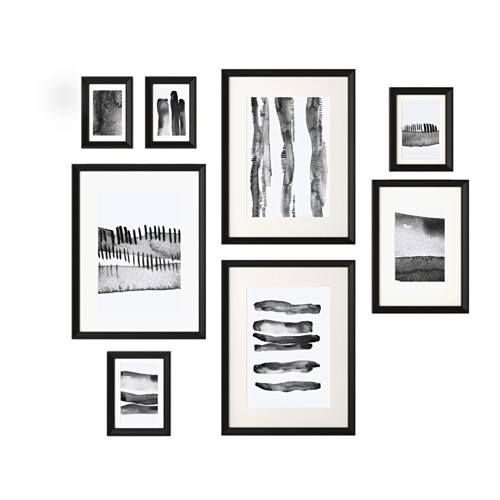 Knopp 196 Ng Frame With Poster Set Of 8 Ikea