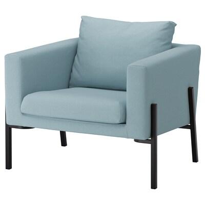 KOARP كرسي بذراعين, Orrsta أزرق فاتح/أسود