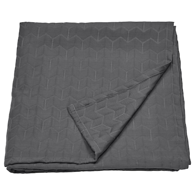 KÖLAX غطاء سرير, رمادي, 230x250 سم