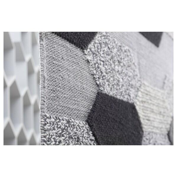 KOLLUND Rug, flatwoven, handmade grey, 170x240 cm