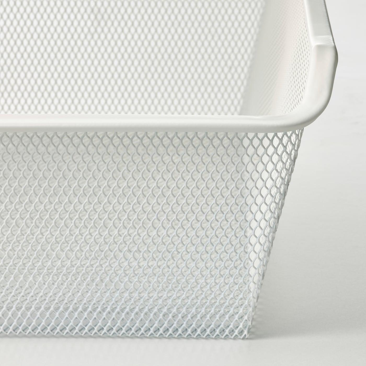 KOMPLEMENT Mesh basket, white, 50x35 cm