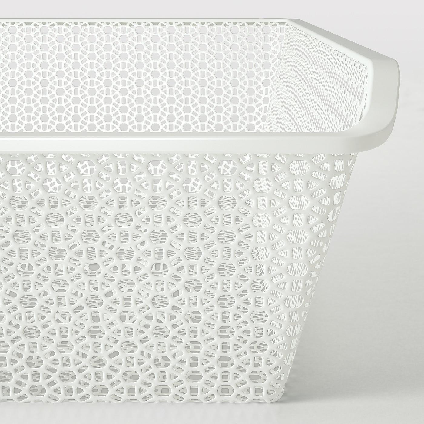 KOMPLEMENT سلة معدنية, منقوش/أبيض, 100x58 سم