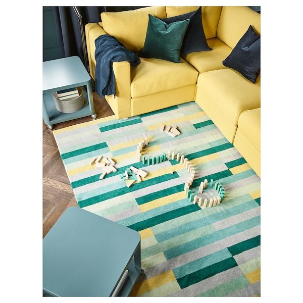 KRÖNGE Rug, low pile, handmade/multicolour, 170x240 cm