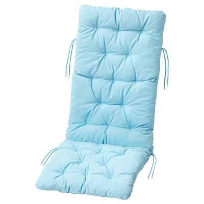 KUDDARNA وسادة مقعد/ظهر، خارجية, أزرق فاتح, 116x45 سم