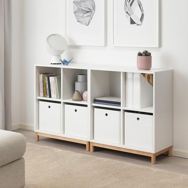 KUGGIS صندوق تخزين, أبيض, 30x30x30 سم