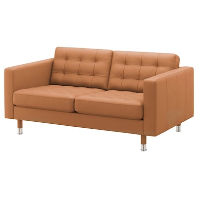 LANDSKRONA 2-seat sofa, Grann/Bomstad golden-brown/metal