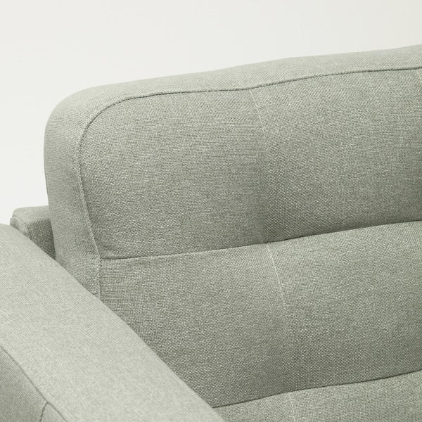 LANDSKRONA كنبة بمقعدين, Gunnared أخضر فاتح/خشبي