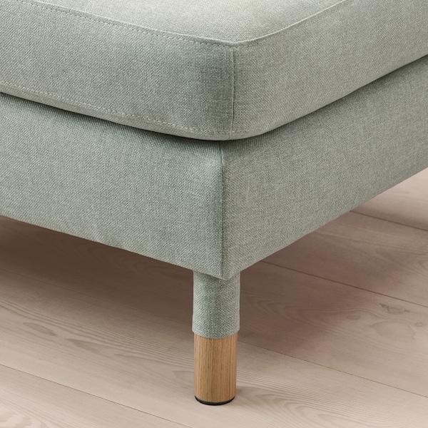 LANDSKRONA Footstool, Gunnared light green/wood