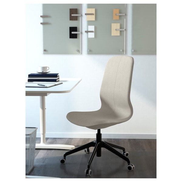 LÅNGFJÄLL Office chair, Gunnared beige/black
