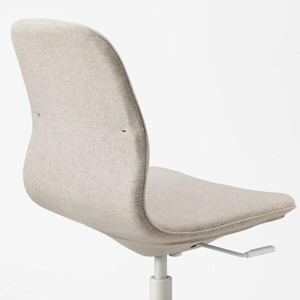 LÅNGFJÄLL كرسي مكتب, Gunnared بيج/أبيض