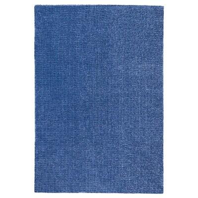 LANGSTED سجاد، وبر قصير, أزرق غامق, 133x195 سم