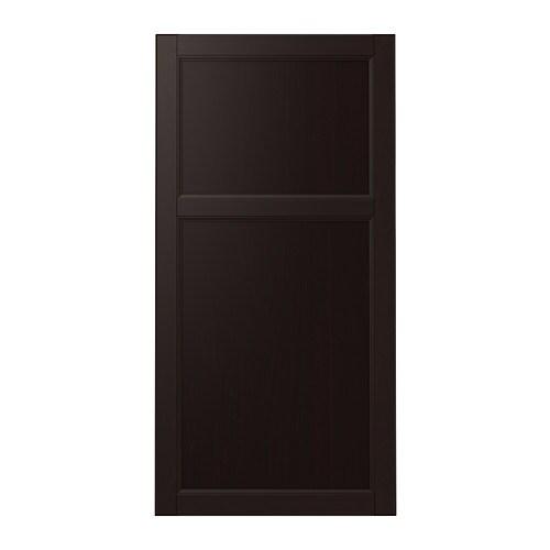 LAXARBY Door, black-brown black-brown