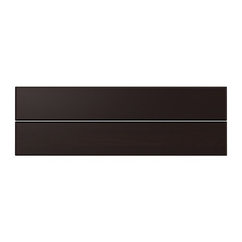 LAXARBY Drawer front, black-brown