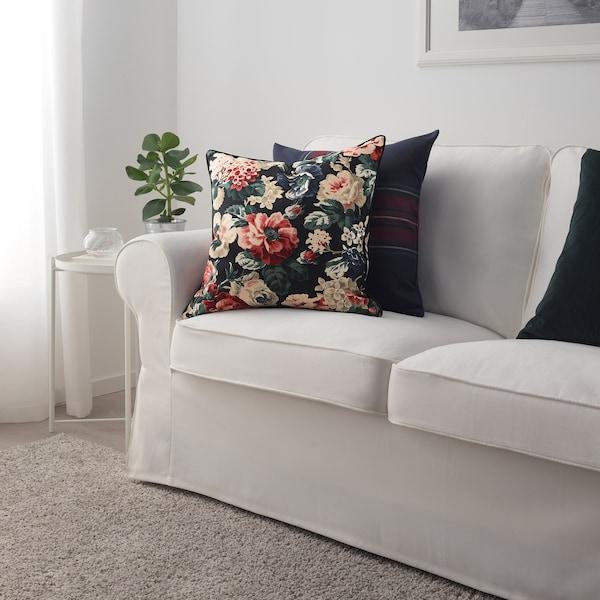 LEIKNY Cushion cover, black/multicolour, 50x50 cm