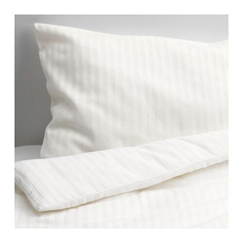 LEKLYSTEN Quilt cover/pillowcase for cot, white