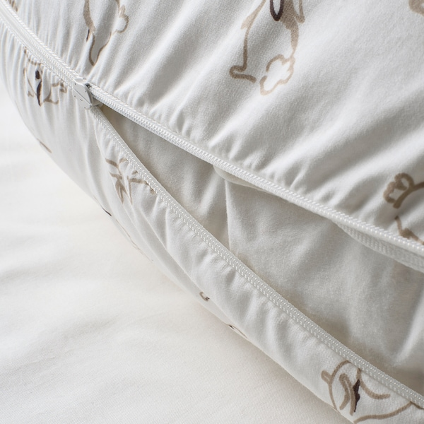 LEN غطاء وسادة رضاعة, نقش أرنب/أبيض, 60x50x18 سم