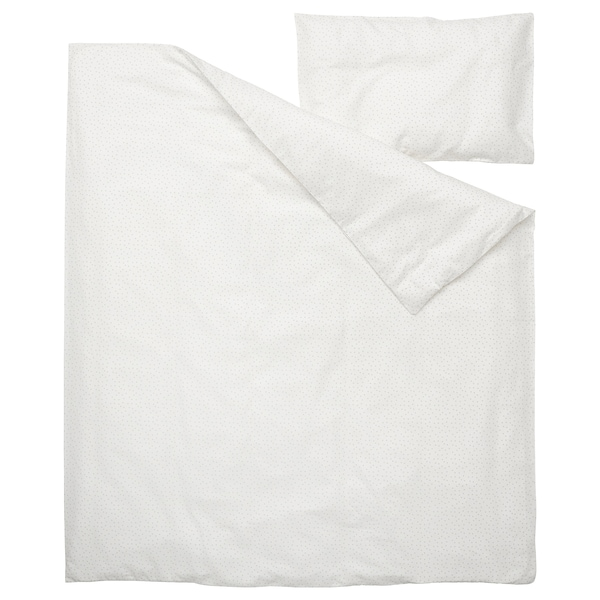 LEN Duvet cover 1 pillowcase for cot, 110x125/35x55 cm