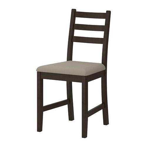 LERHAMN Chair, black-brown, Vittaryd beige