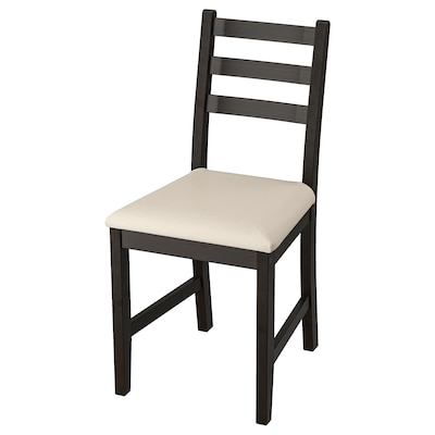 LERHAMN كرسي, أسود-بني/Vittaryd بيج
